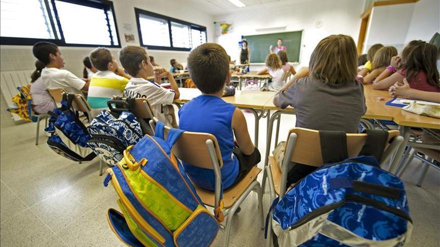 Alumnos de Primaria en un aula.