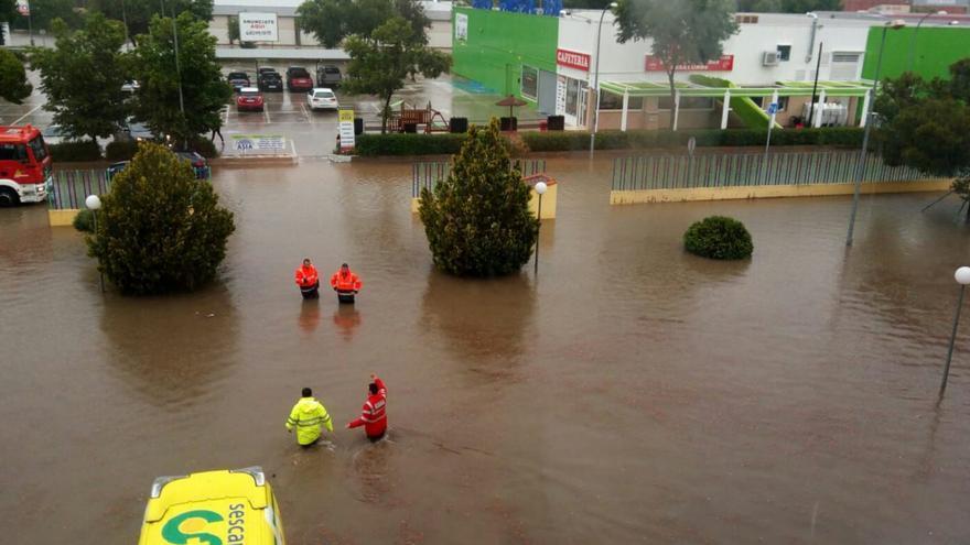 Inundaciones en las inmediaciones del Hospital de Valdepeñas
