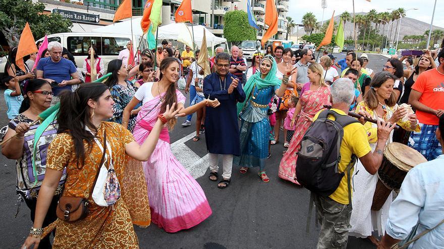 Arona celebra el Ratha Yatra, una de las fiestas con más relevancia de la comunidad hindú