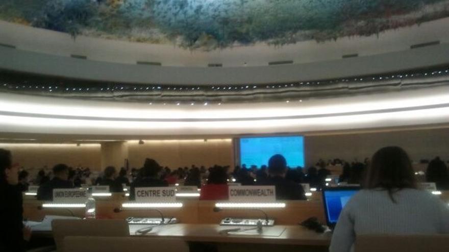 Momento del examen de la ONU a España sobre derechos humanos / FOTO: Red Acoge