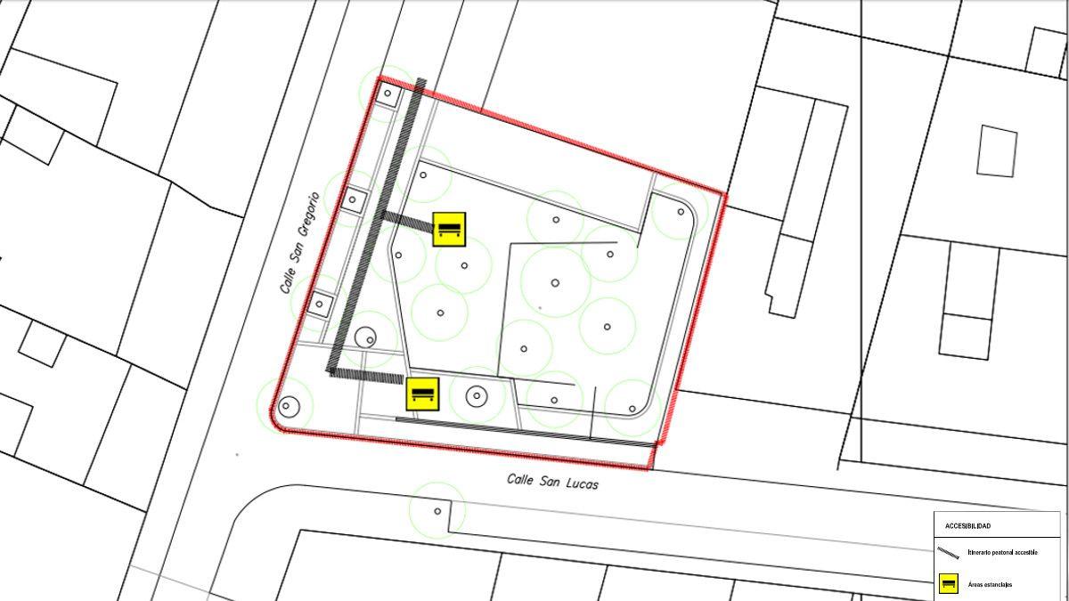 Elementos de accesibilidad propuestos para la plazuela de San Gregorio | AYUNTAMIENTO DE MADRID