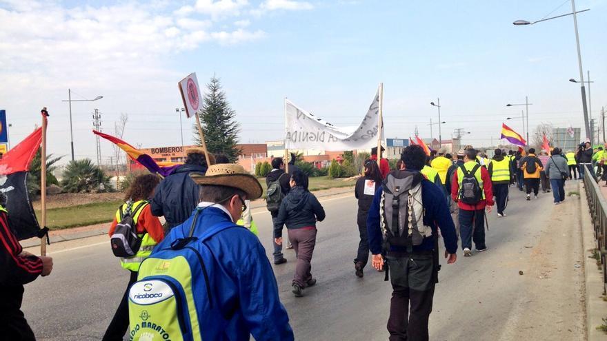 Una de la columnas de las Marchas de la Dignidad / Foto: Olga Rodríguez