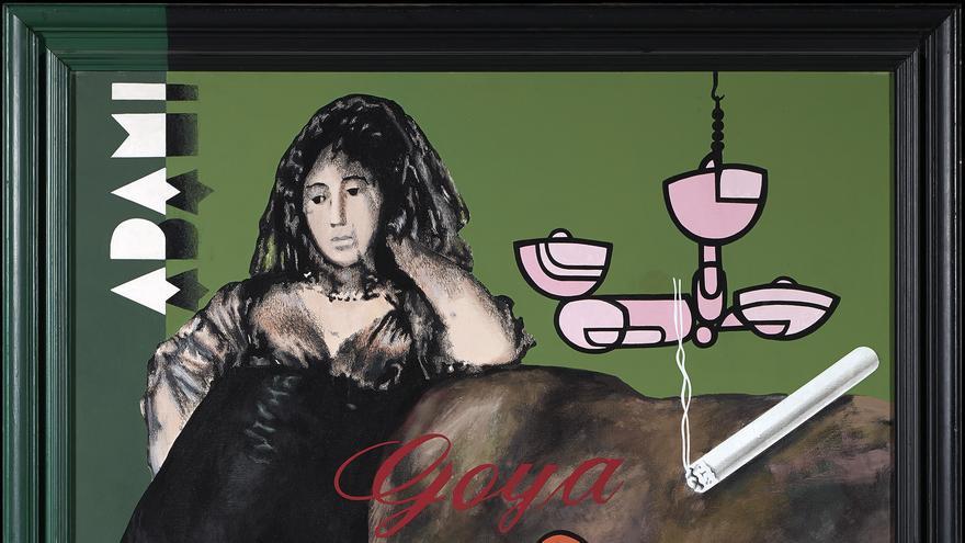 Equipo Crónica. Adami y Goya en el salón, 1974. Colección Banco Santander