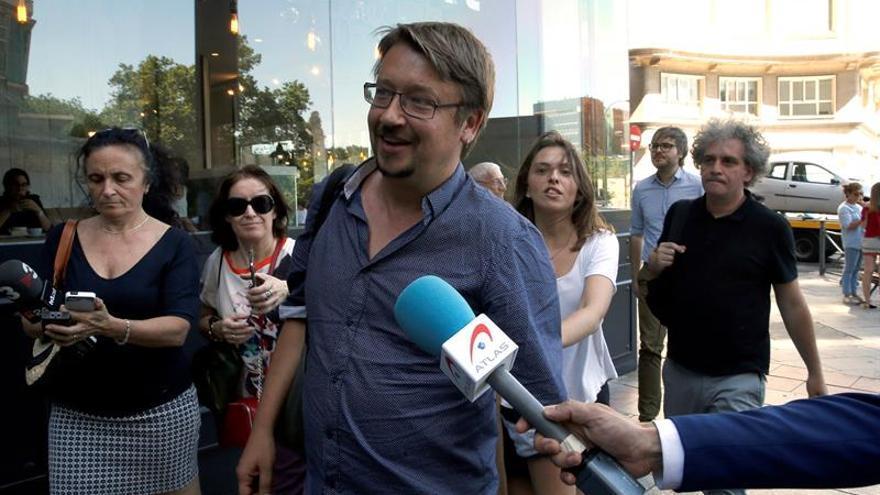 El portavoz de En Comú Podem, Xavier Domènech