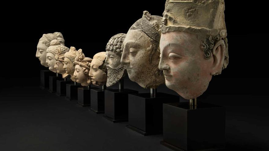 Bustos budistas del Museo Británico