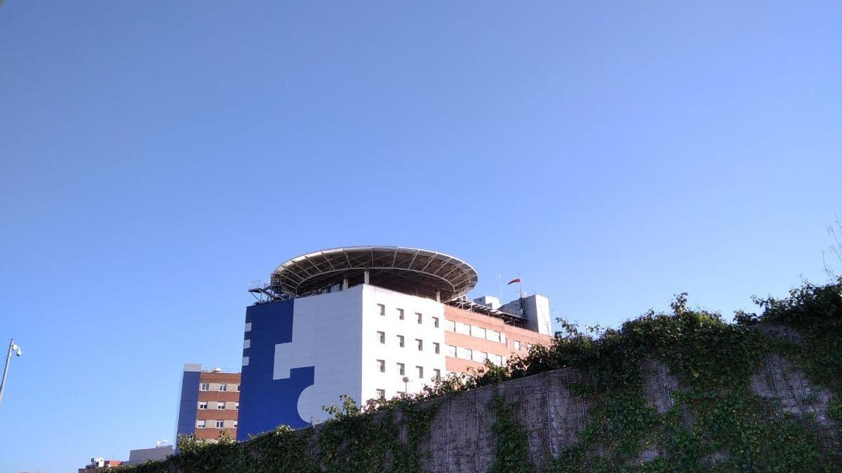 El helipuerto del hospital de Cruces