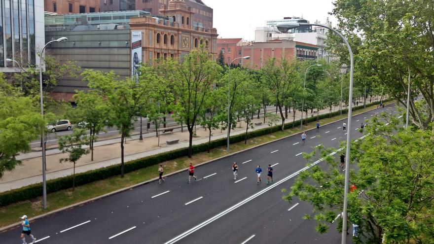 Tramo de la Castellana peatonalizado durante la desescalada | SOMOS CHAMBERÍ