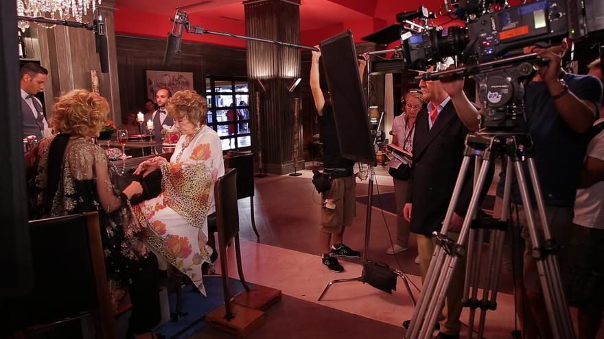 """Shirley Maclaine y Jessica Lange, """"como reinas"""" en el Lopesan Costa Meloneras del sur grancanario."""