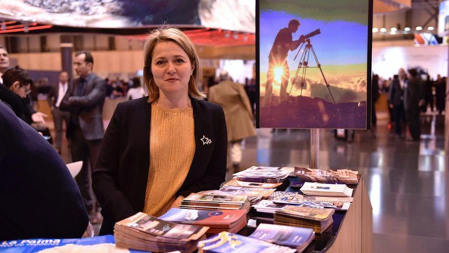 Alicia Vanoostende, consejera de Turismo del Cabildo de La Palma, en Fitur 2017. Foto: Carlos Aciego de Mendoza.