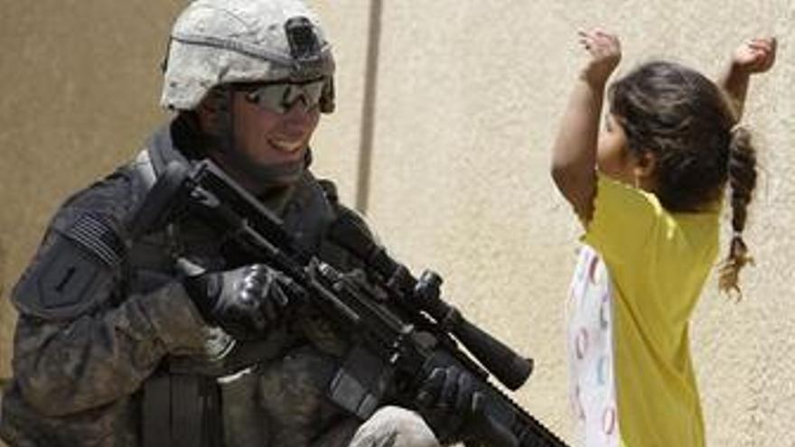 Soldado estafounidense en Irak