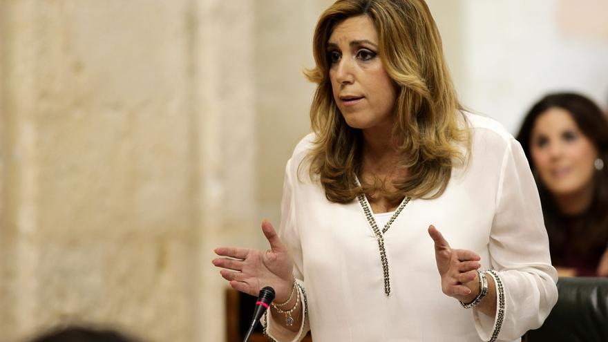 """Susana Díaz espera poder aplicar tras 20D normas recurridas por Rajoy, al que reclama """"8.600 millones de los andaluces"""""""