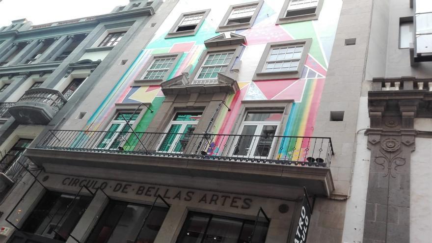 Edificio sede del Círculo de Bellas Artes, uno de los incluidos bajo la fórmula de protección documental y por lo tanto se podría derribar