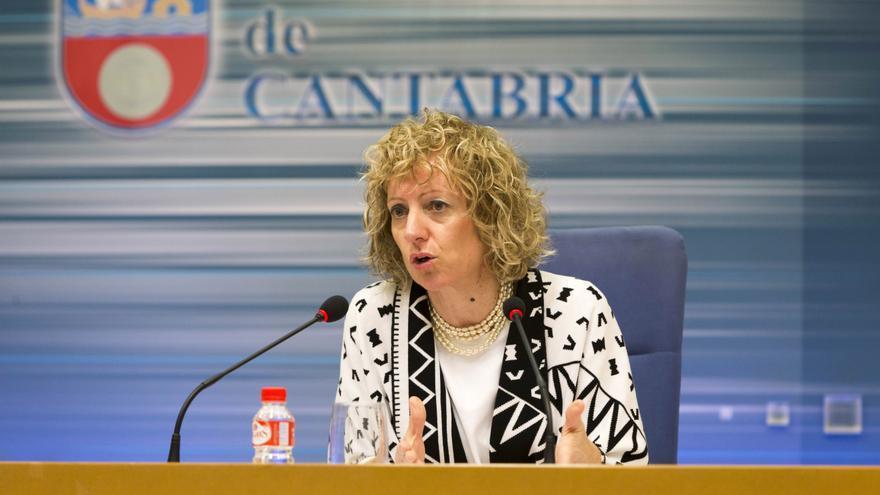 Eva Díaz Tezanos (PSOE) durante la rueda de prensa.   Miguel Ángel López
