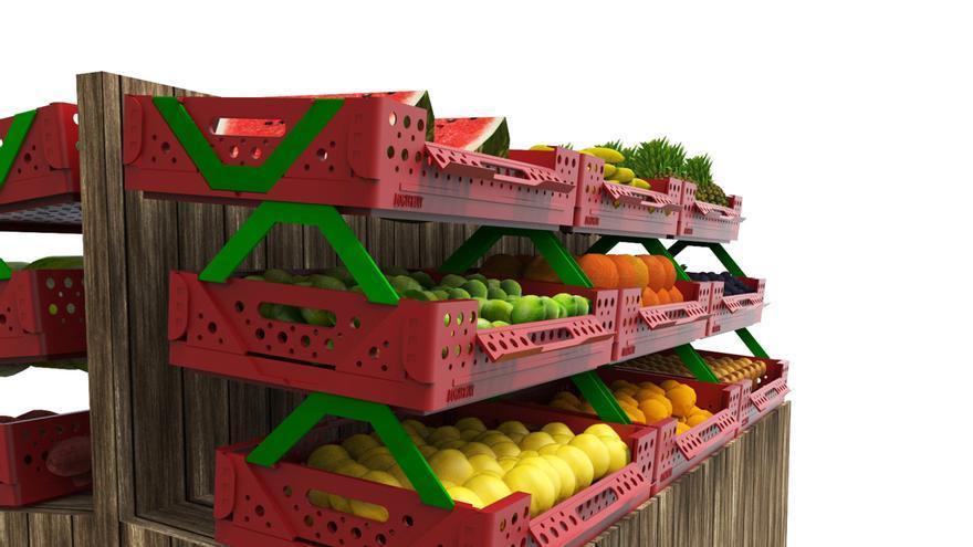 Su proyecto de caja sostenible para transportar hortalizas FOTO: Cedida por Raquel Muñoz