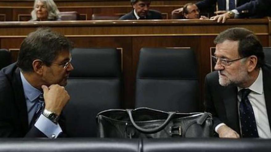 Catalá y Rajoy en el Congreso. Archivo EFE.