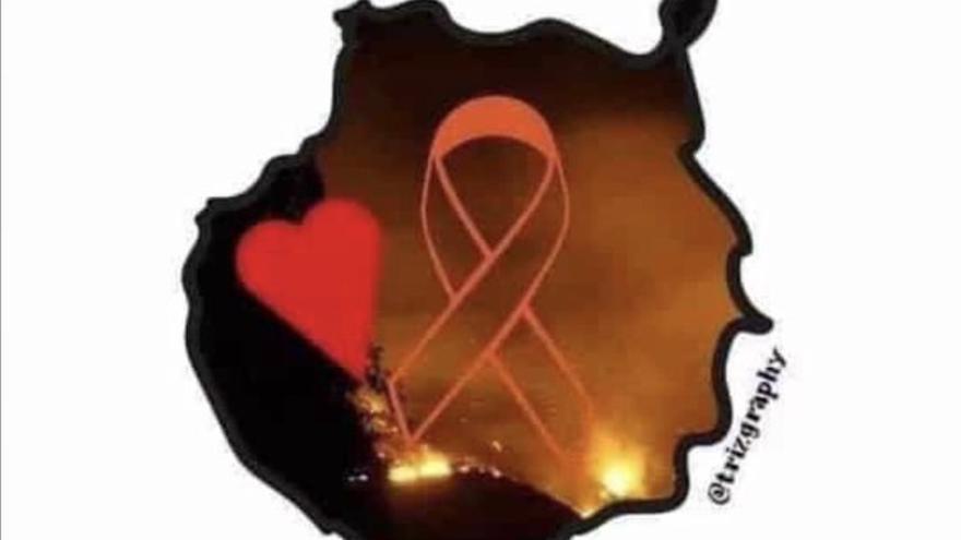 Una de las imágenes de solidaridad con Gran Canaria más compartida en redes