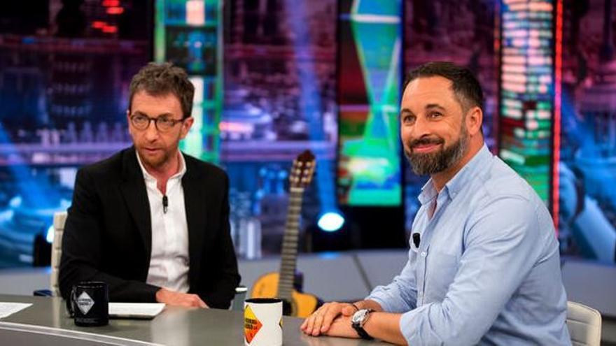 Pablo Motos y Santiago Abascal en El Hormiguero