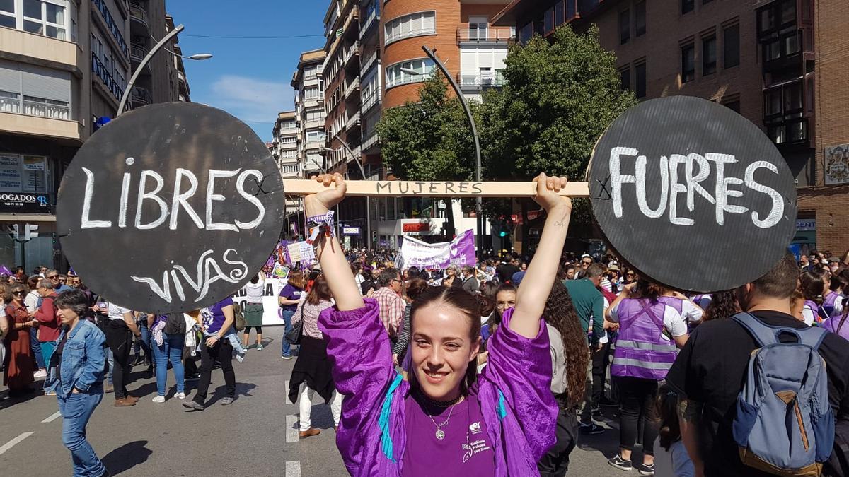 Manifestación del 8M en Murcia el domingo por la mañana / E. R.