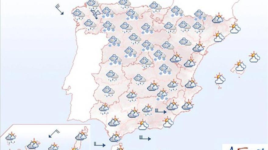 Mañana, nevadas en norte, centro y en sierras del noreste de Andalucía