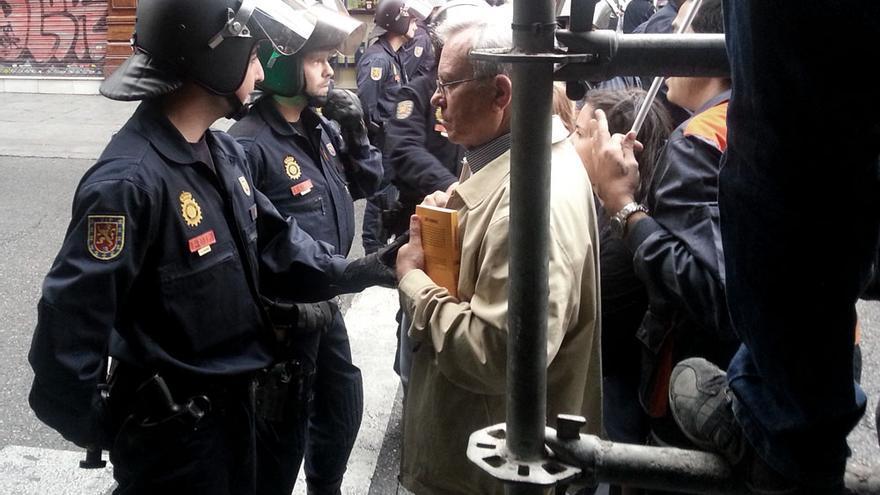 Corte policial en Sol el 25S