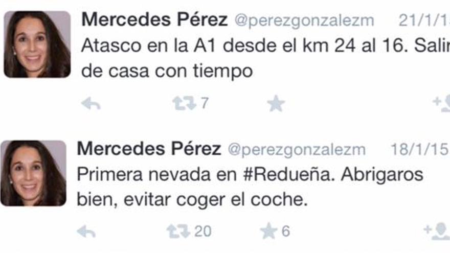 Tuits de una alcaldesa del PP con el infinitivo mal empleado.