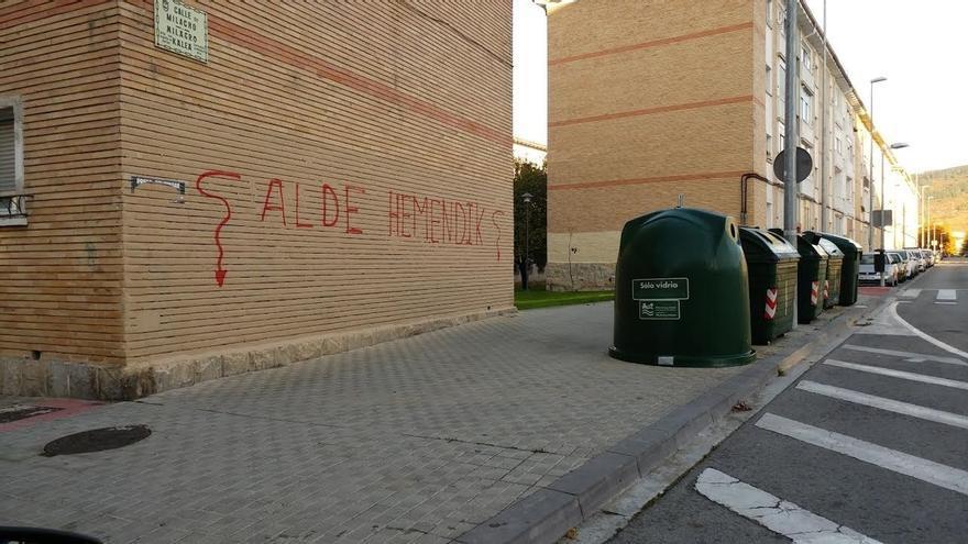 UPN critica la aparición de pintadas en Pamplona contra la Guardia Civil y de apoyo a los detenidos en Alsasua