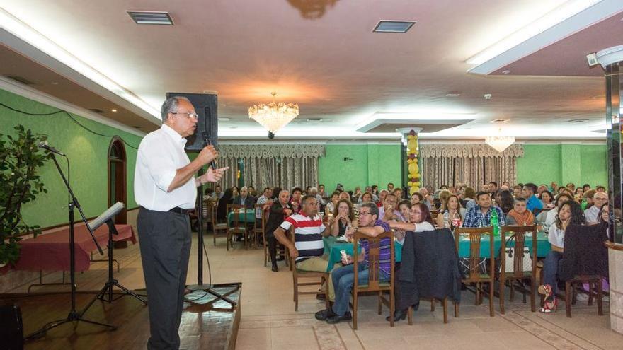 Curbelo durante su intervención en un acto celebrado en Tenerife