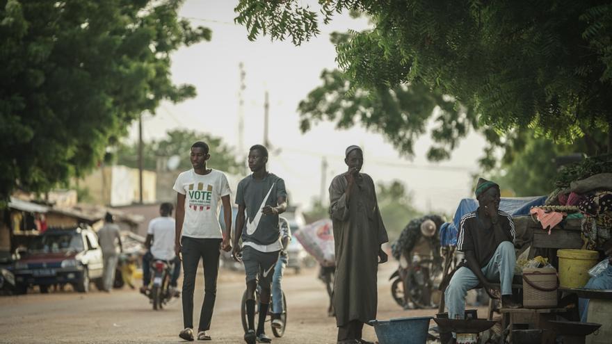 Una calle de Tambacounda, capital de la región senegalesa con el mismo nombre