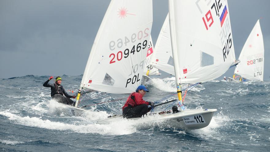 Imagen de la tercera jornada de la competición europea de la clase Láser.