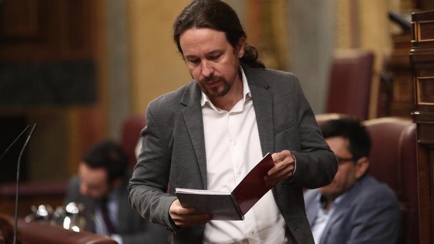 """Iglesias acusa a Sánchez de blandir el 155 como """"fuegos artificiales"""" para """"cazar"""" votantes de Ciudadanos"""