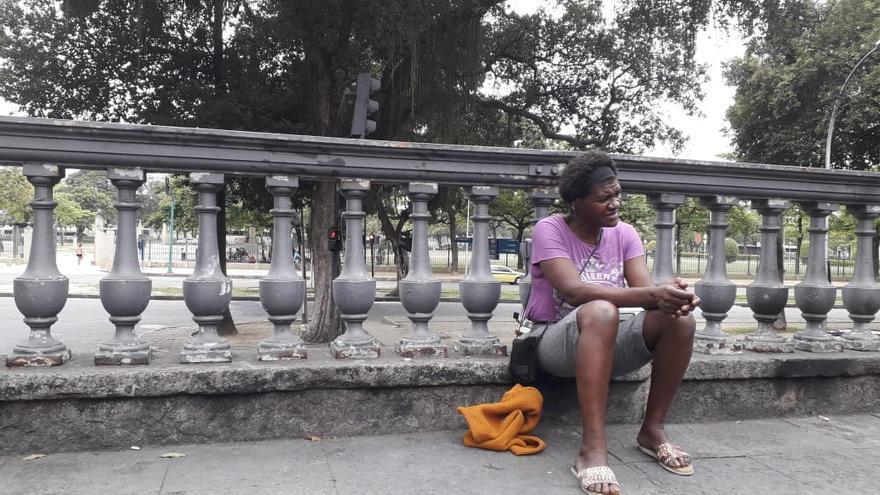 Claudia, una de las mujeres sin hogar protagonista del documental 'Rua Vermelha'.