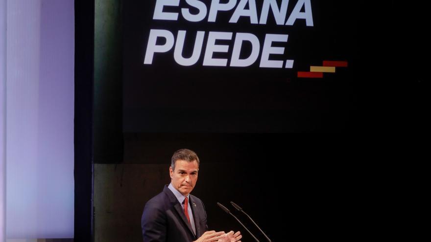 El presidente del Gobierno, Pedro Sánchez, ofrece una conferencia bajo el título 'España puede. Recuperación, Transformación, Resiliencia' que sintetiza el espíritu colectivo al que el presidente invita a la unidad de la sociedad civil y de las institucio