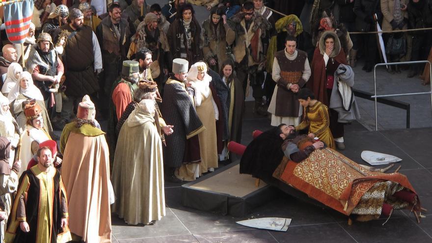 Recreación de la leyenda de los Amantes de Teruel. Foto: Fundación Bodas de Isabel