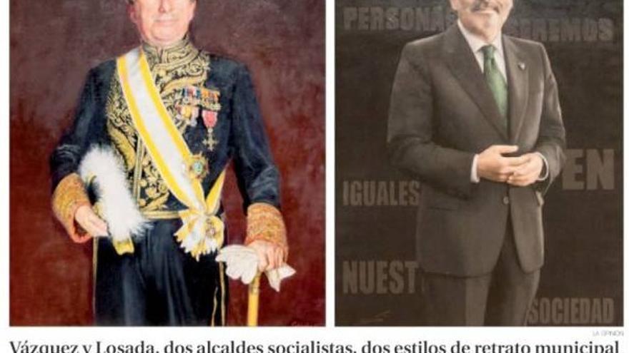 Retratos de Vázquez y Losada, publicados por La Opinión de A Coruña