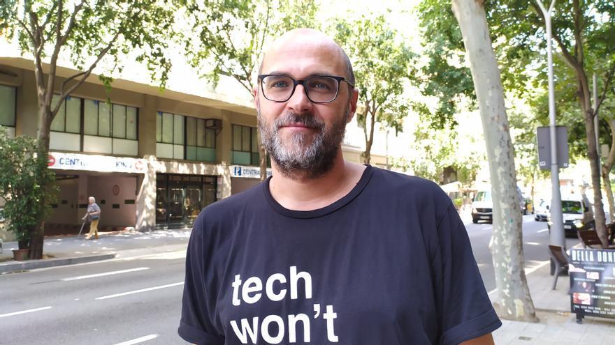 José Mansilla, antropólogo urbano, el pasado jueves en Barcelona