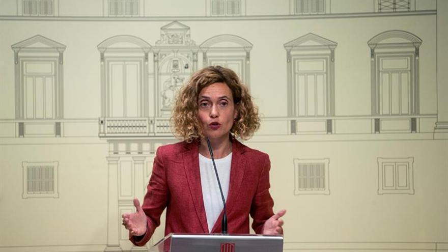 La ministra Batet comparece desde la Generalitat tras reunirse con Torra