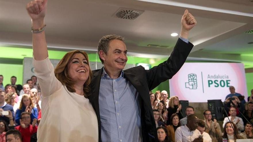 """Zapatero afirma que Susana Díaz representa la """"fuerza del PSOE y de ganar"""""""