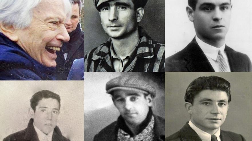 Madrileños deportados: : Jorge Semprún, Vicente Delgado, Melchor Antuñano, Andrés Fariñas, José Fontanet y Enrique Calcerrada