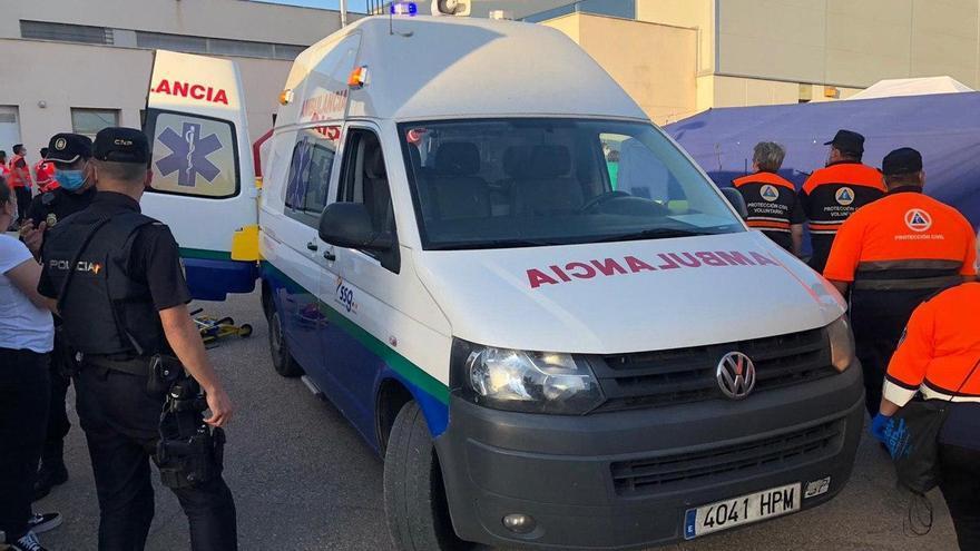 Tareas de evacuación del Hospital de Hellín (Albacete)