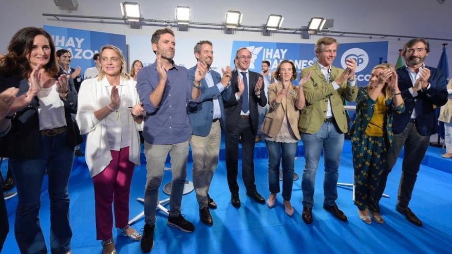 Sémper, Alonso, Gamarra y otros dirigentes del PP en la apertura de la convención