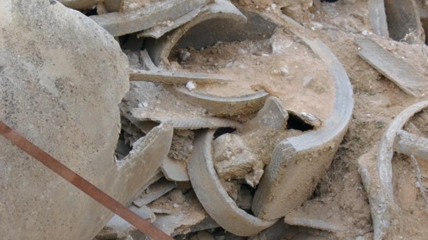 Tubos con restos de amianto en Toledo