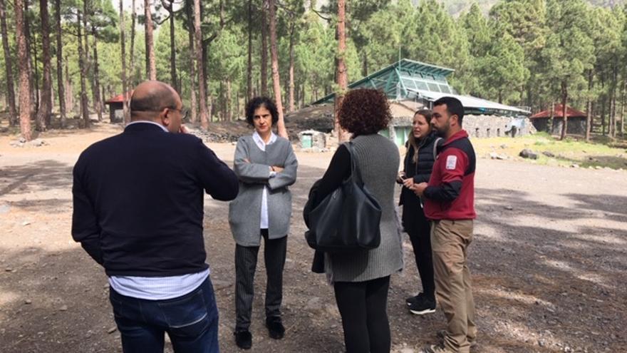 Visita al campamento del Riachuelo en El Paso.