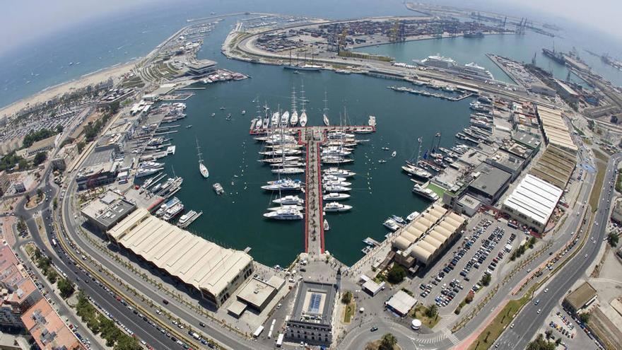 Vista aérea de la Marina de Valencia