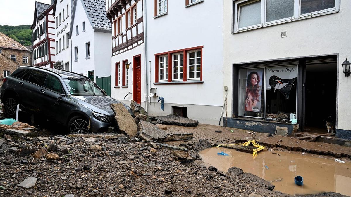 Destrozos causados por las inundaciones en el municipio alemán de Bad Münstereifel.
