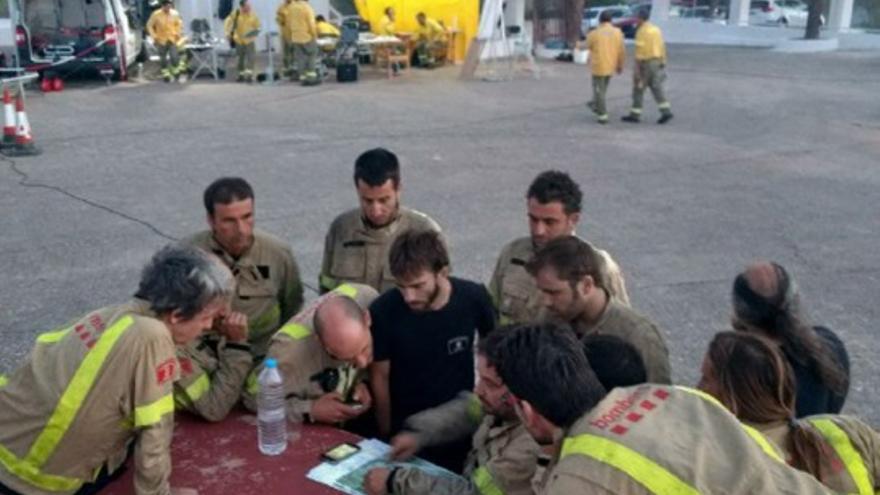 Bomberos de Cataluña preparando la planificación para este lunes