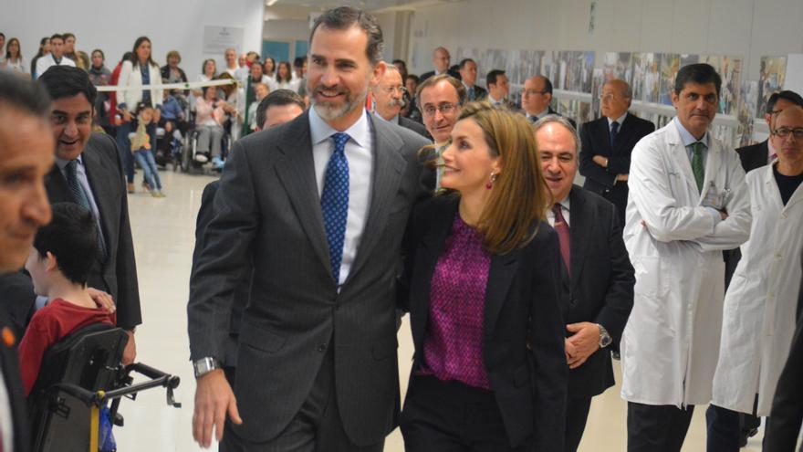 Los reyes en el Hospital de Parapléjicos de Toledo, 10/2/15 / Foto: Javier Robla