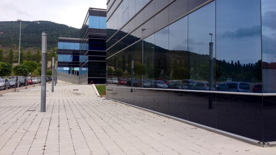 Los alrededores de la Clínica Ansoain, en una zona industrial del municipio.