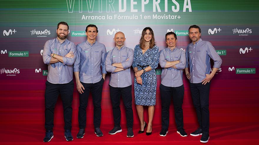 El equipo de Movistar+ F1, en el evento de presentación celebrado en marzo