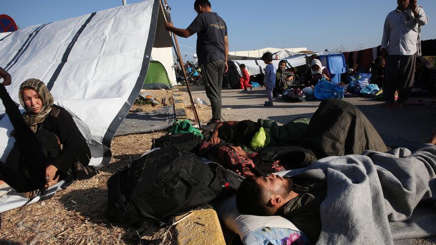 Eurodiputados de Anticapitalistas, ERC y EH Bildu piden por carta a Pedro Sánchez acoger un número significativo de los 13.000 refugiados de Lesbos