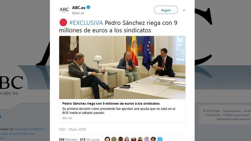 ABC y el riego a los sindicatos